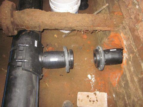 Подключение ввода водоснабжения к водосети