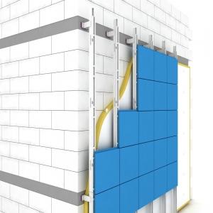 Монтаж фасада из композитных панелей